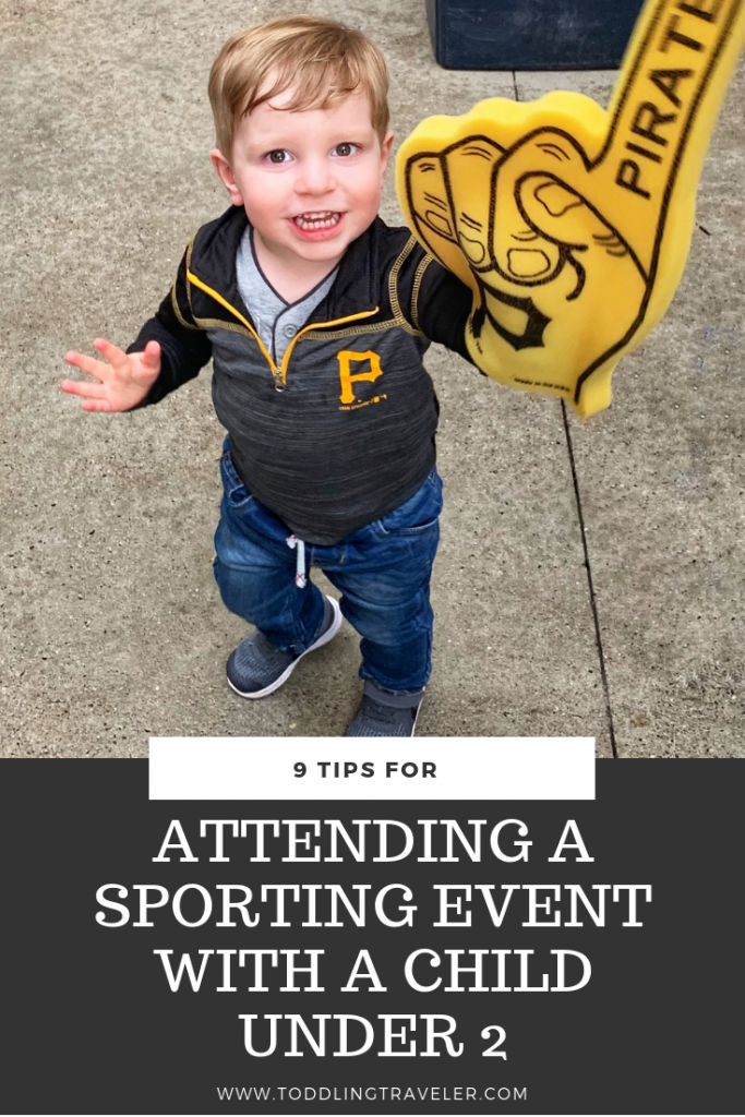 Attending a sporting even with a child under 2