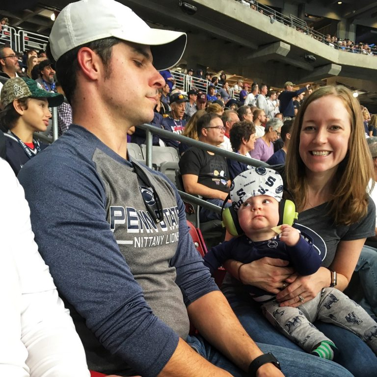 Football Bowl Game with a Baby Attending a Sporting Event with a Child Under 2 Toddling Traveler