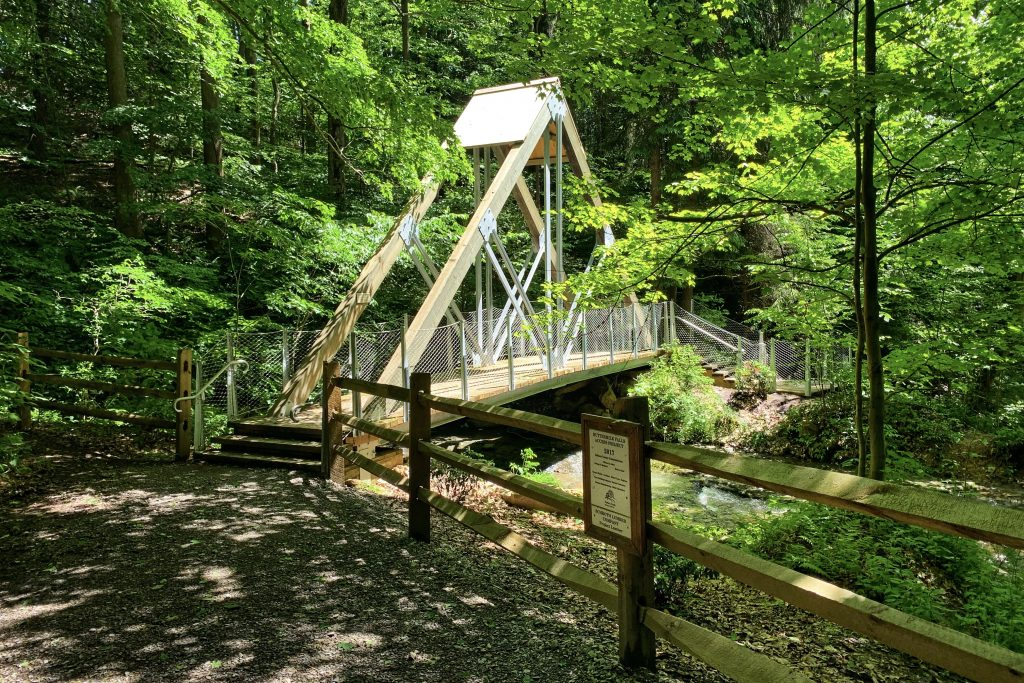 Buttermilk Falls Walking Bridge Indiana PA things to do with kids