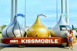 Hershey Kissmobile at the Antique Auto Museum in Hershey Weekend Getaway Toddling Traveler