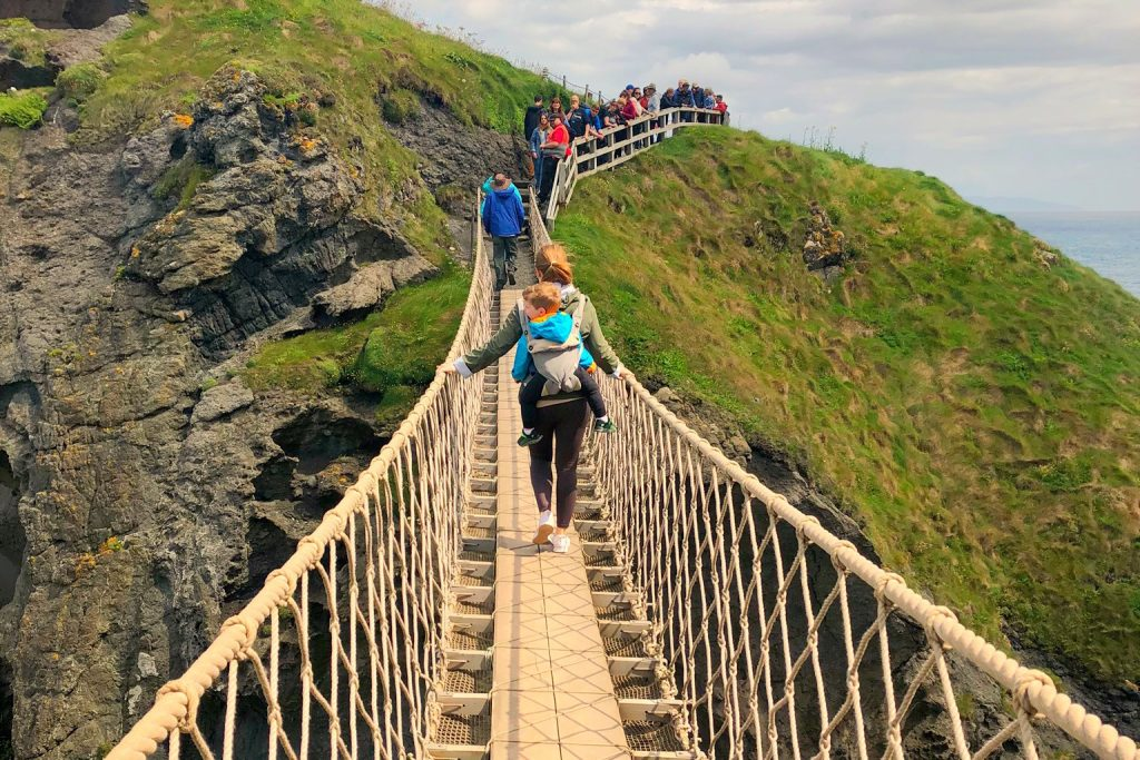 Carrick-a-Rede Bridge with a Toddler North Coast Ireland Toddling Traveler