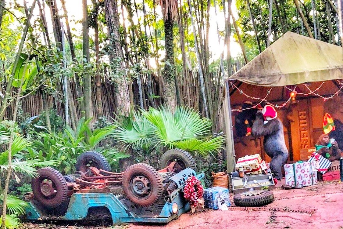 Orlando at Christmas in Disney at Magic Kingdom Jingle Cruise Toddling Traveler