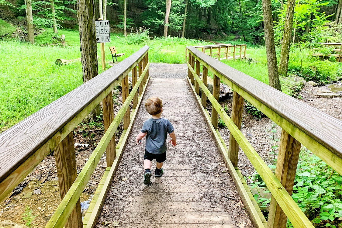 Falls Run Park Hiking in Pittsburgh with a Toddler Toddling Traveler