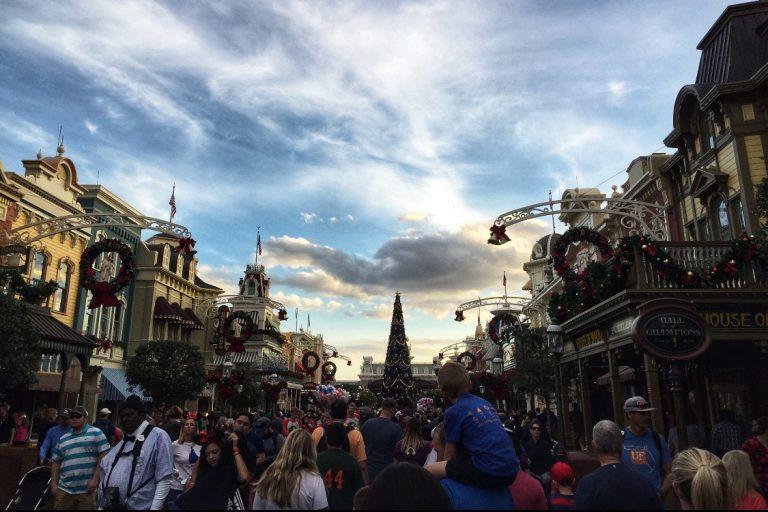 Magic Kingdom at Christmas Orlando Toddling Traveler