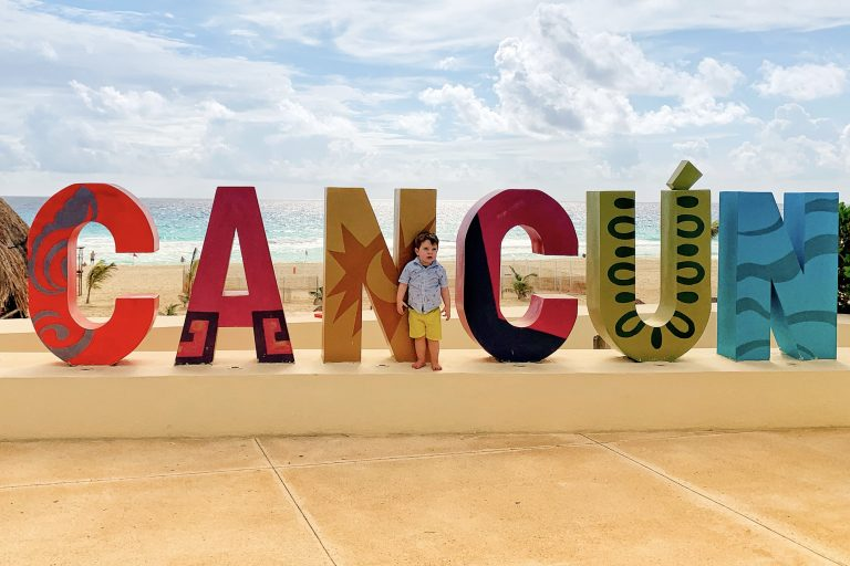 Cancun Sign at the Park Royal Golden Family Friendly All Inclusive in Cancun