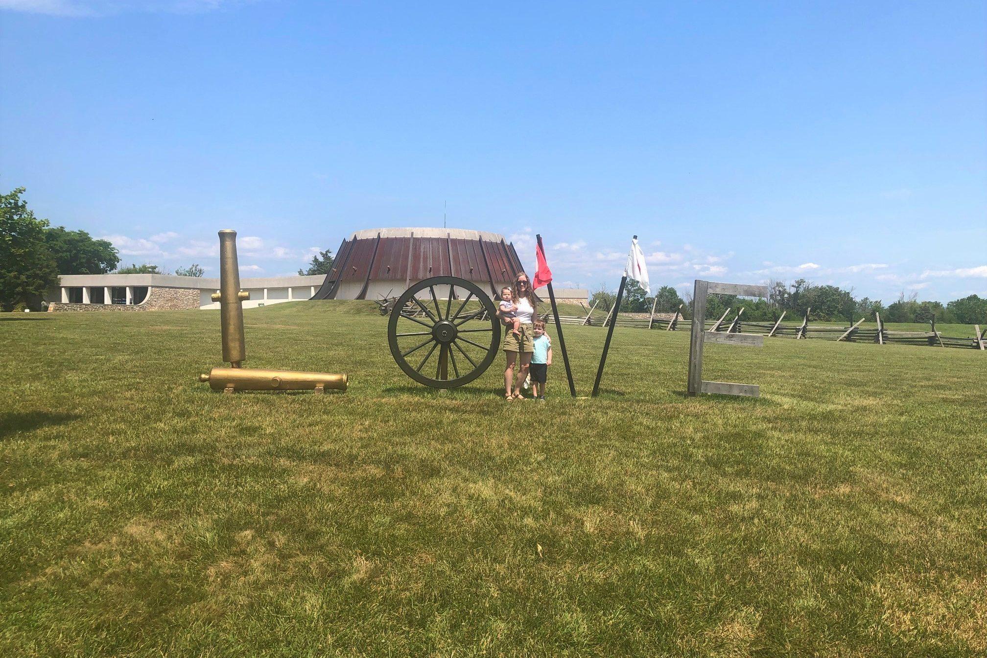 New Market Battlefield Virginia Love sign Toddling Traveler